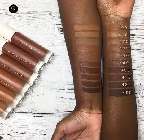 Fenty Beauty Swatches by Cocoa Swatches