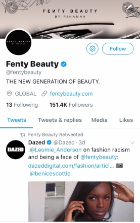 Fenty Beauty| Twitter