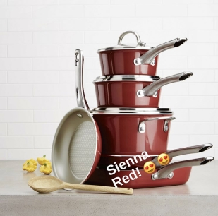 Sienna Red Cookware Set