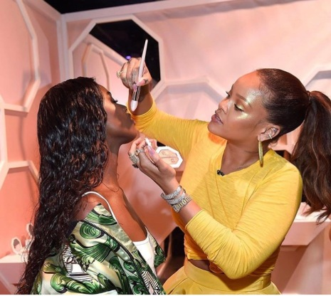 Rihanna at Sephora on Times Square Fenty Beauty Launch