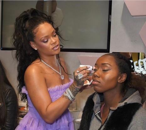 Rihanna at Harvey Nichols Knightsbridge Fenty Beauty Launch